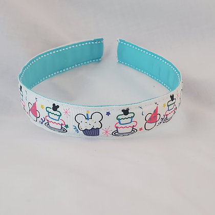 Mickey Cupcakes & Cake Reversible Headband with Cover