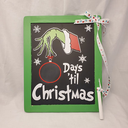 Grinch Christmas Countdown Sign