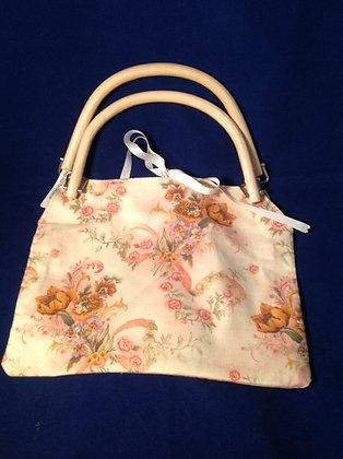 Antique Blush Floral Handbag