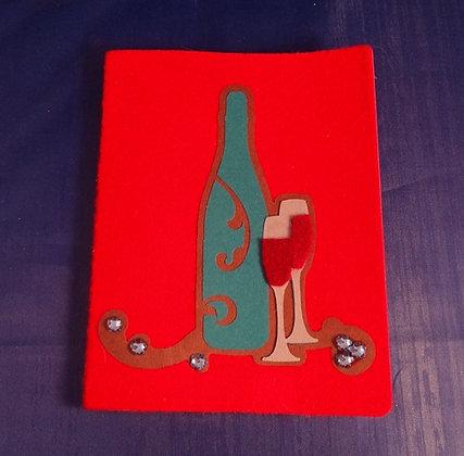 Felt Covered Wine Journal