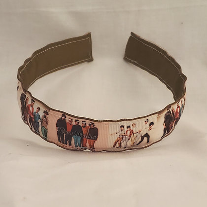 One Direction (Brown) Reversible Headband with Cover