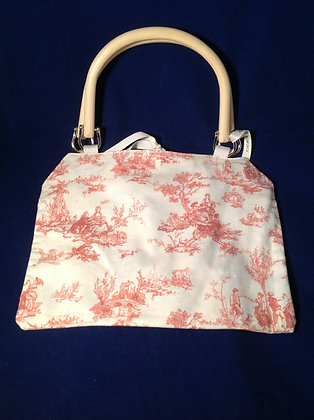 Red Toile Handbag
