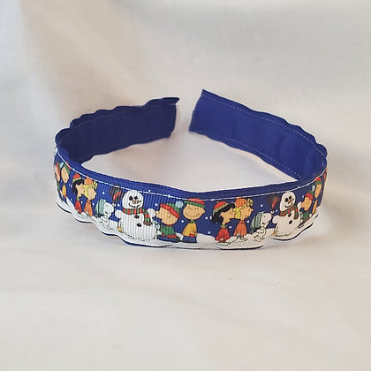 Peanuts Characters with Snowman Reversible Headband with Cover