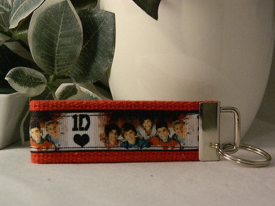 One Direction Group Wristlet Key Fob