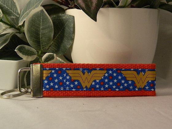 Wonder Woman logo Wristlet Key Fob