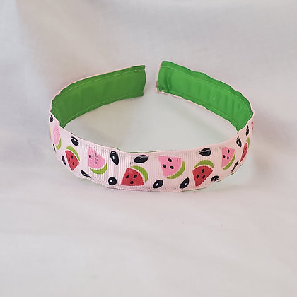 Pink Watermelon Reversible Headband with Cover
