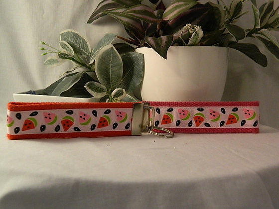Watermelon Wristlet Key Fob