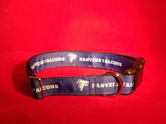 Danvers Falcons Dog Collar Blue