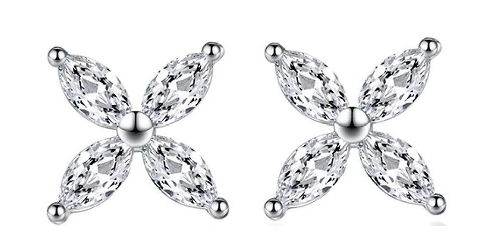 Silver Shoppee Silver Plated Jhumki Earrings for Women (White) (SSER1450)