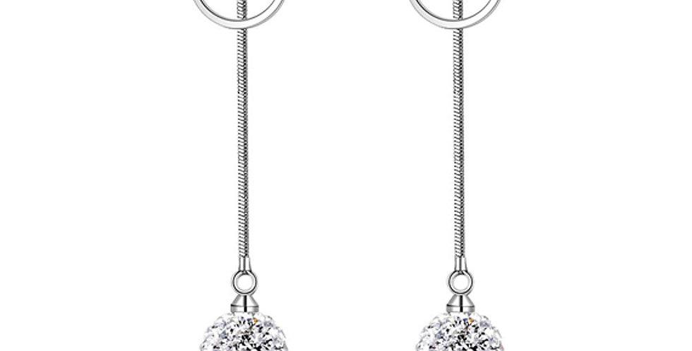 Silver Shoppee Silver Plated Jhumki Earrings for Women (White) (SSER1441B)