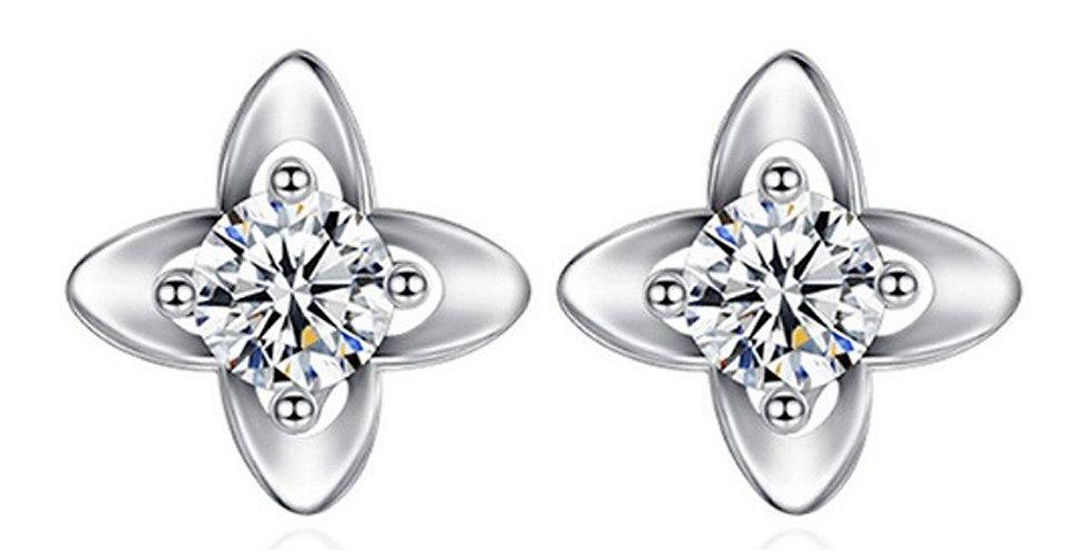 Silver Shoppee Silver Plated Jhumki Earrings for Women (White) (SSER1456)
