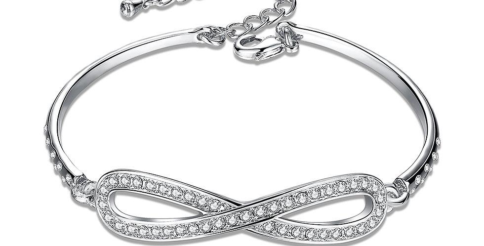 Dazzling You Sterling Silver Adjustable Bracelet for Girls