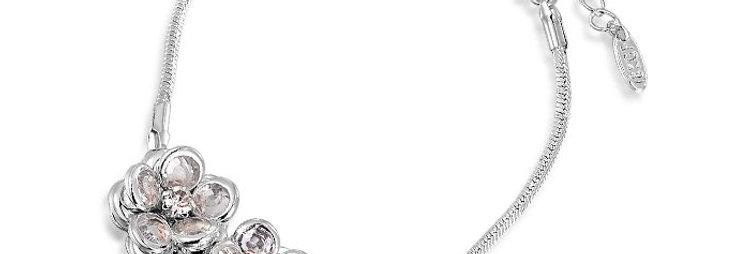Blossoming Hope Genuine Austrian Crystal Sterling Silver Bracelet for Girls