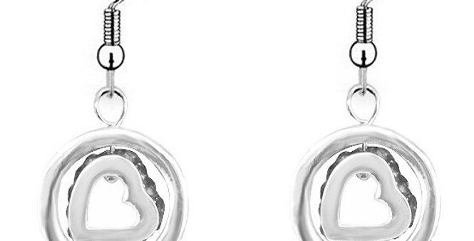 Silver Shoppee Jhumki Earrings for Women (Silver) (SSER0255A)