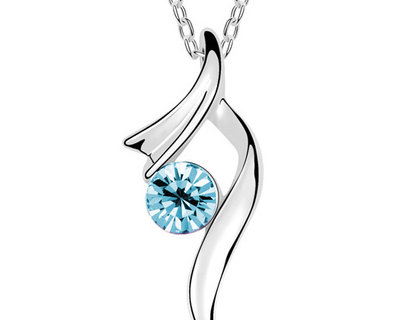 Immaculate Rhodium Plated Cubic Zirconia Alloy Pendant (SSPD0517A)