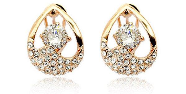 Silver Shoppee Jhumki Earrings for Women (Golden) (SSER0221A)