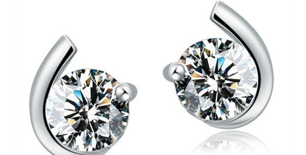 Sterling Silver Earrings for Baby Girls, Girls and Women (SSER1507)