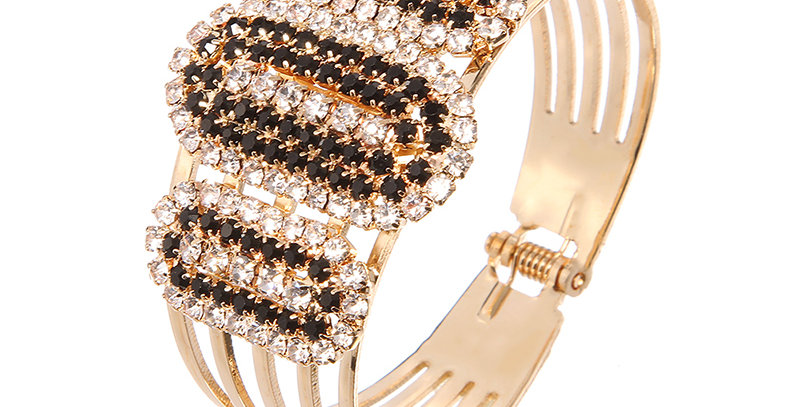 Golden Bling Crystal and Cubic Zirconia Gold Plated Bracelet for Girls