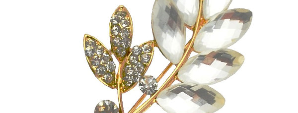 Whispering Willows Gold Plated Crystal and Cubic Zirconia Brooch for Girls