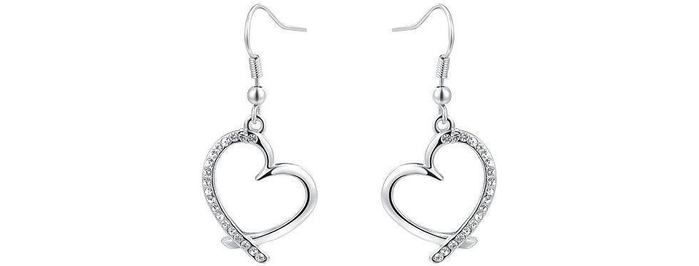 Silver Shoppee Jhumki Earrings for Women (Silver) (SSER1331)