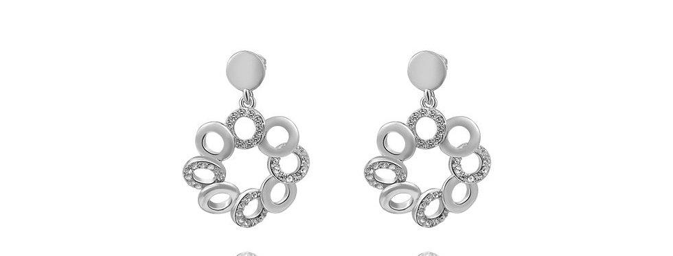 Silver Shoppee Jhumki Earrings for Women (Silver) (SSER1336)