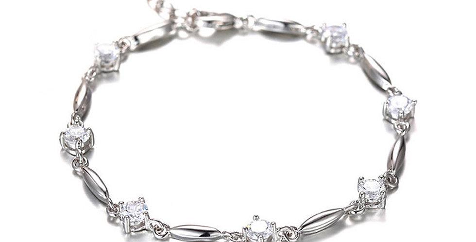 Silver Shoppee Silver Valentine Bracelet for Girls and Women (SSBR1069)