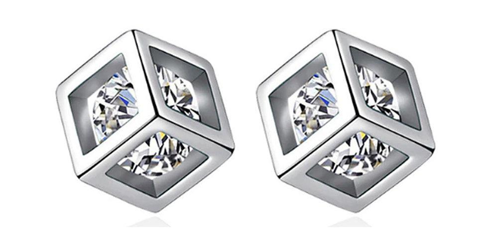 Silver Shoppee Silver Plated Jhumki Earrings for Women (White) (SSER1460)