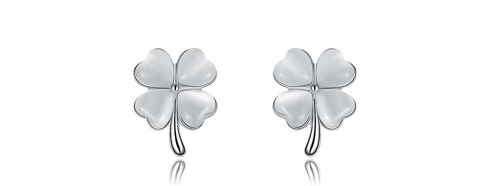 Sublime Florets High Quality Genuine Opal Sterling Silver Earrings for Girls