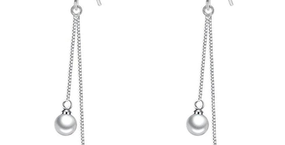 Silver Shoppee Silver Plated Jhumki Earrings for Women (White) (SSER1476)