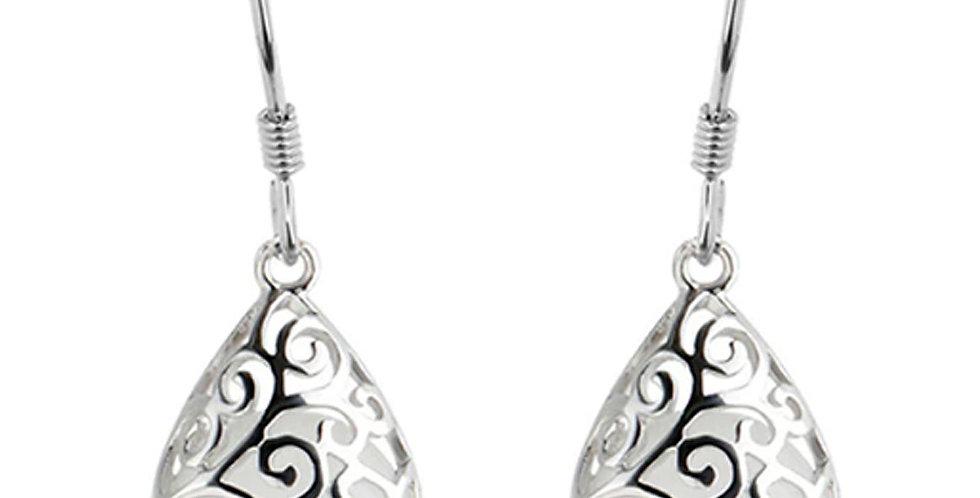 Silver Shoppee Silver Plated Jhumki Earrings for Women (White) (SSER1424A)