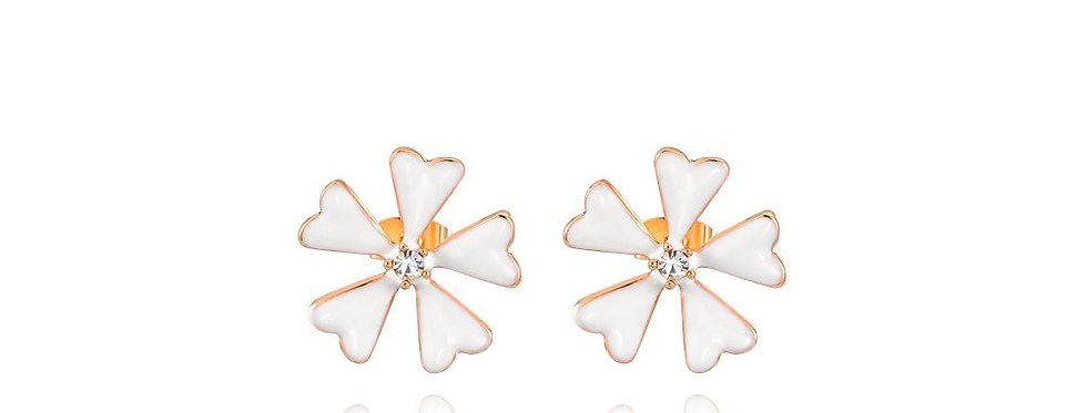 Blossoming Hope Austrian Crystal Sterling Silver Earrings for Girls