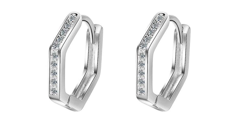 Valentine Special Sterling Silver Huggie (Bali) Earrings for Girls