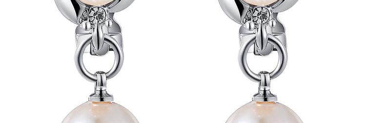 Silver Shoppee Gold Plated Jhumki Earrings for Women (Beige) (SSER0314)