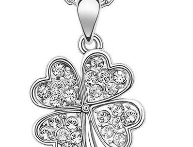 Silver Shoppee Pendant for Women (White) (SSPD0307A)