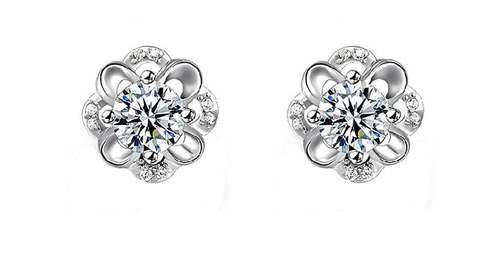 Sterling Silver Earrings for Baby Girls, Girls and Women (SSER1499)