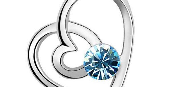 Silver Shoppee Pendant for Women (Silver Blue) (SSPD0232A)