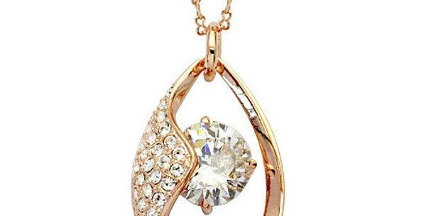 Silver Shoppee Pendant for Women (Gold White) (SSPD0221A)