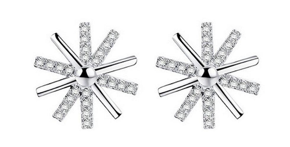 Silver Shoppee Silver Plated Jhumki Earrings for Women (White) (SSER1426)