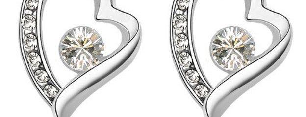 Silver Shoppee Jhumki Earrings for Women (White) (SSER0215B)