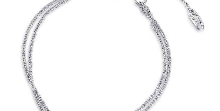Silver Shoppee Charm Bracelet for Women (White) (SSBR0983)