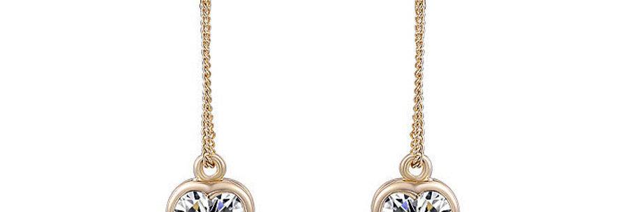 Silver Shoppee Jhumki Earrings for Women (Golden) (SSER0249B)