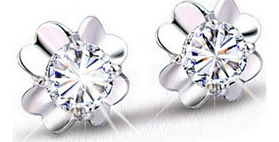 Sterling Silver Earrings for Baby Girls, Girls and Women (SSER1496)
