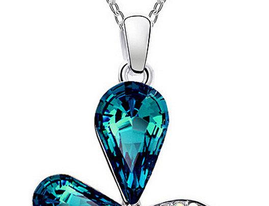 Silver Shoppee Pendant for Women (Blue) (SSPD0286A)