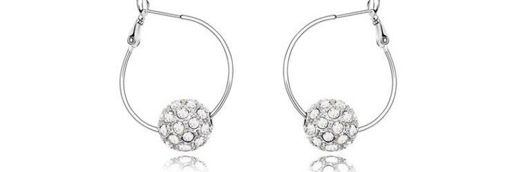 Magical LOVE Rhodium Plated Crystal and Cubic Zirconia Earrings for Girls