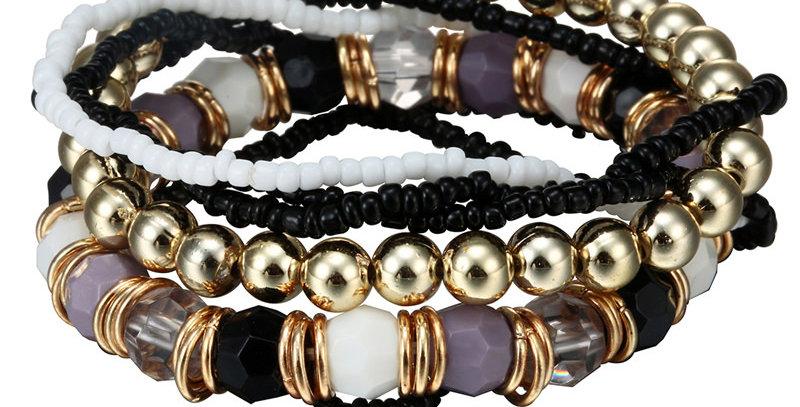 Silver Shoppee Hold Me Tight Bracelet for Girls and Women Black (SSBR1052B)