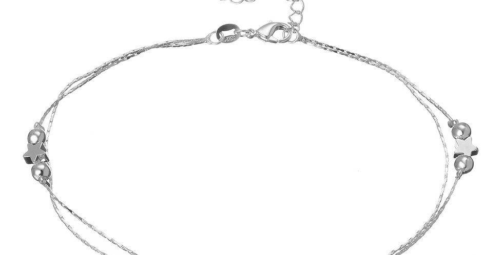 Silver Shoppee Sterling Silver Anklet For Women (SSAN3105)