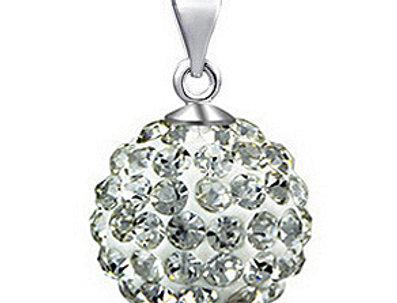 Silver Shoppee Pendant for Women (White) (SSPD0288A)