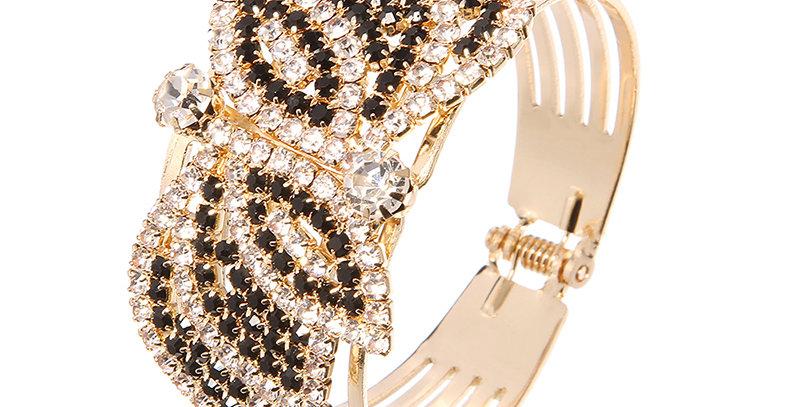 Silver Shoppee Gold Plated Charm Bracelet for Women (Black) (SSBR0985A)
