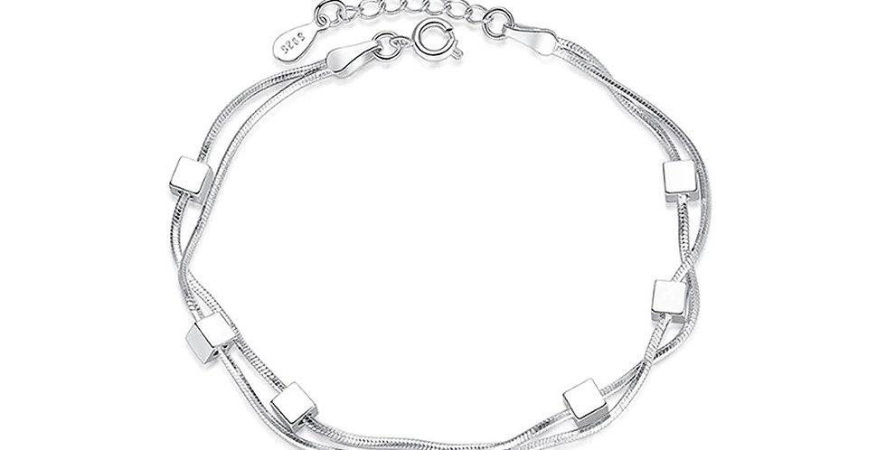 Silver Shoppee Silver Bracelet for Girls and Women (SSBR1071)