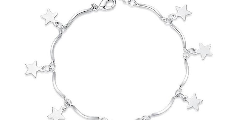 Silver Shoppee Silver Bracelet for Girls and Women (SSBR1082)